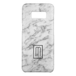 白い及び灰色の大理石の質のモノグラム Case-Mate SAMSUNG GALAXY S8ケース