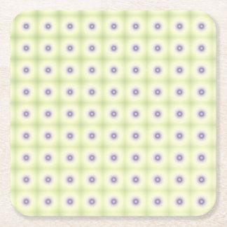 白い及び紫色の円 スクエアペーパーコースター