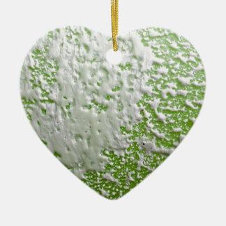 白い及び緑の錆 セラミックオーナメント
