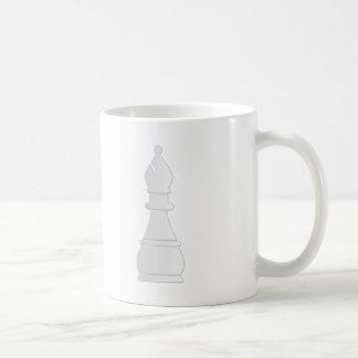 白い司教の駒 コーヒーマグカップ