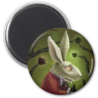 白い吸血鬼のウサギ マグネット