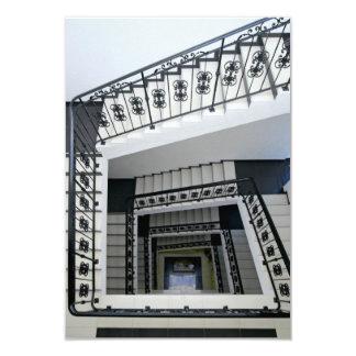 白い四角の階段 カード
