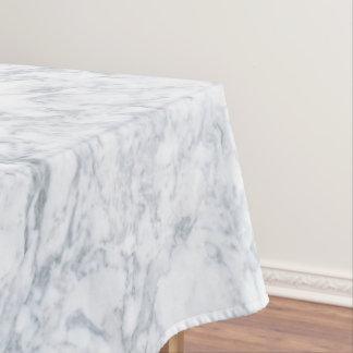 白い大理石の一見 テーブルクロス