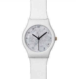 白い大理石の一見 腕時計