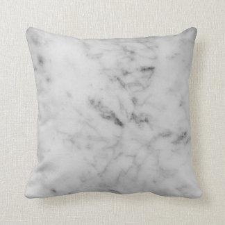 白い大理石の枕 クッション