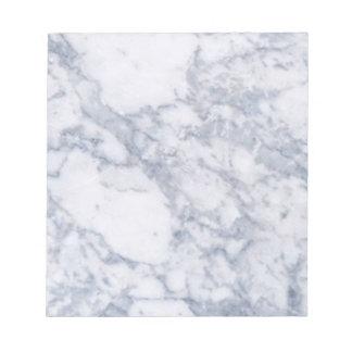 白い大理石の石造りの穀物か質 ノートパッド