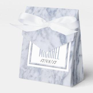 白い大理石の結婚式の文房具 フェイバーボックス