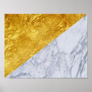 白い大理石の金ぱく基本的なポスター2 ポスター