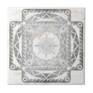 白い大理石のAtlantean技術の銀 タイル