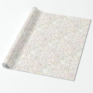 白い大理石パターン ラッピングペーパー