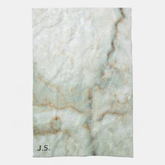 白い大理石 キッチンタオル