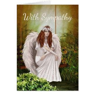 白い天使の悔やみや弔慰カード カード