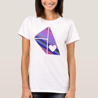 白い女性 Tシャツ