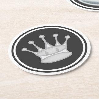 白い女王のチェス ラウンドペーパーコースター