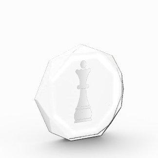 白い女王の駒 表彰盾