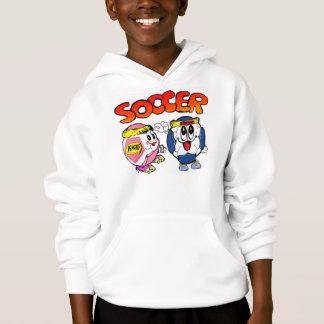 白い子供のHanes ComfortBlend®のフード付きスウェットシャツ