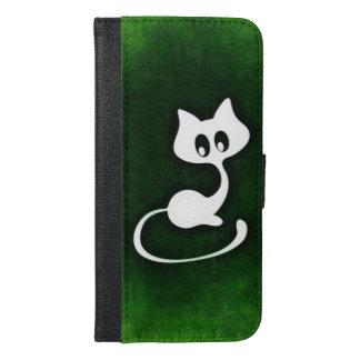 白い子猫 iPhone 6/6S PLUS ウォレットケース