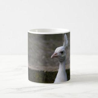 白い孔雀 コーヒーマグカップ