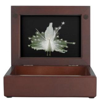 白い孔雀 ジュエリーボックス