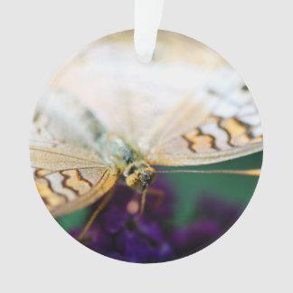 白い孔雀Anartia Jatrophae オーナメント