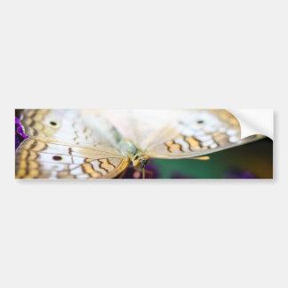 白い孔雀Anartia Jatrophae バンパーステッカー