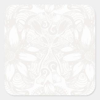 白い宇宙花の爆発 スクエアシール