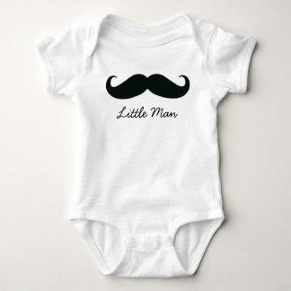 白い小さい人の髭の幼児クリーパー ベビーボディスーツ
