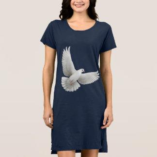 白い平和鳩の服 ドレス