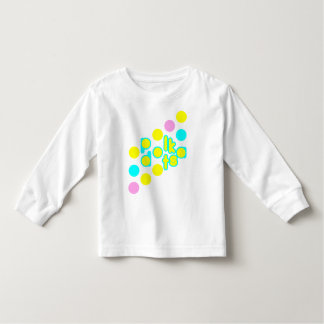 白い幼児の長袖のTシャツ トドラーTシャツ