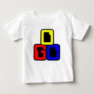 白い幼児Tシャツ ベビーTシャツ
