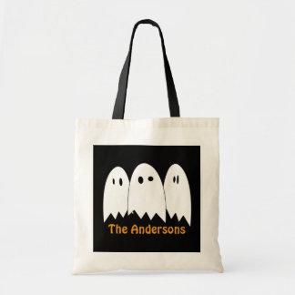 白い幽霊のトリオのハロウィンキャンデーのトリック・オア・トリート トートバッグ