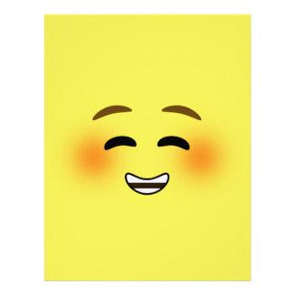 白い微笑のEmoji レターヘッド