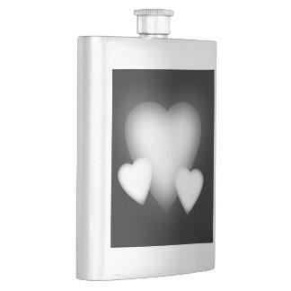白い愛ハート フラスク