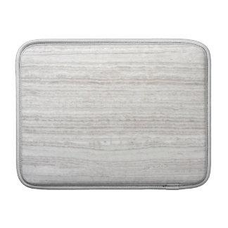 白い打撃の大理石 MacBook スリーブ