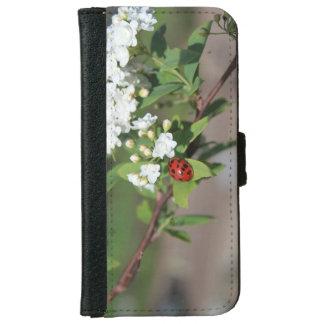 白い携帯電話の箱または札入れの女性 iPhone 6/6S ウォレットケース