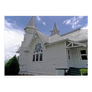 白い教会柑橘類フロリダ ポストカード