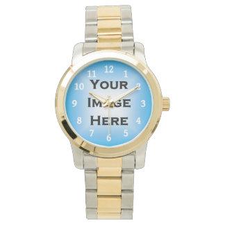 白い数を用いるカスタムな腕時計 腕時計