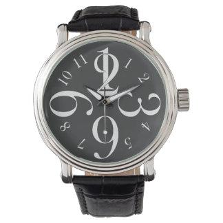 白い数 腕時計