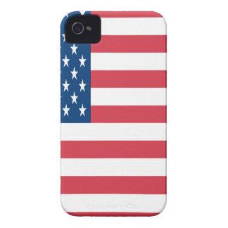 白い星が付いている米国旗 Case-Mate iPhone 4 ケース