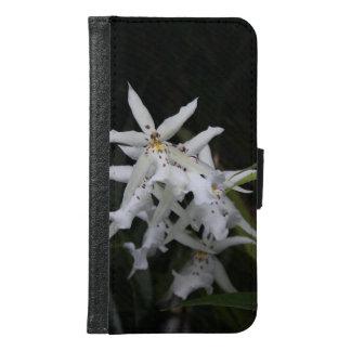 白い星の蘭 GALAXY S6 ウォレットケース