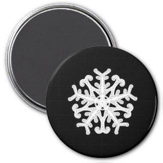 白い星の雪片 マグネット