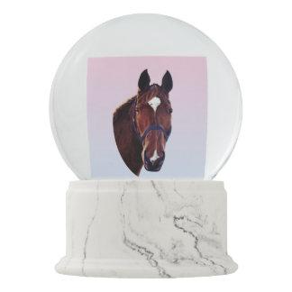 白い星を持つクリの馬 スノーグローブ