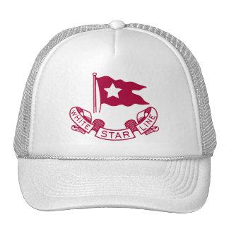 白い星ラインロゴ トラッカー帽子