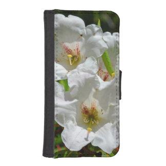 白い春のシャクナゲのiphoneのウォレットケース iPhoneSE/5/5sウォレットケース