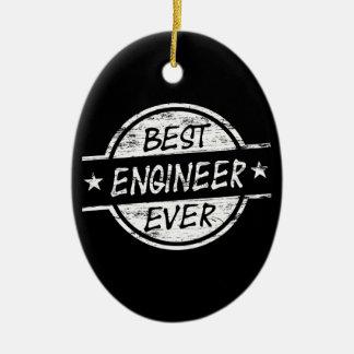 白い最も最高のなエンジニア セラミックオーナメント