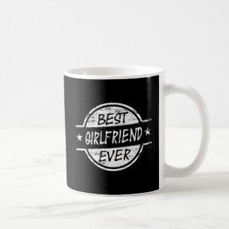 白い最も最高のなガールフレンド コーヒーマグカップ