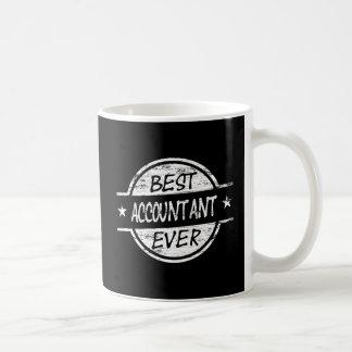 白い最も最高のな会計士 コーヒーマグカップ