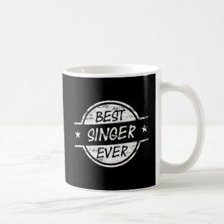 白い最も最高のな歌手 コーヒーマグカップ