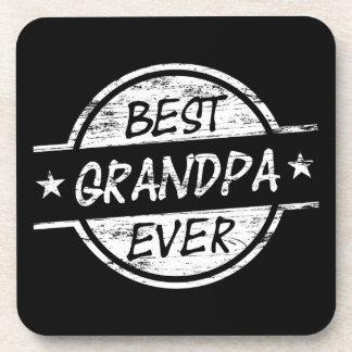 白い最も最高のな祖父 コースター