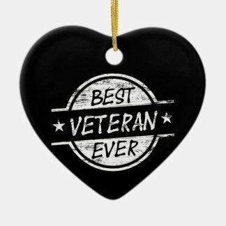 白い最も最高のな退役軍人 セラミックオーナメント